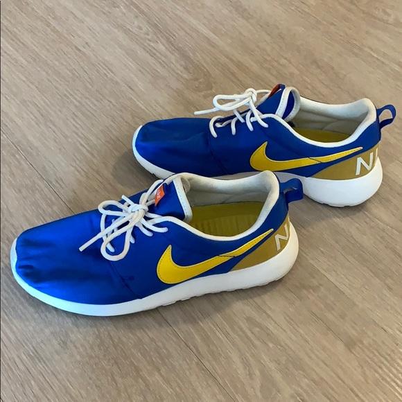 blue yellow nikes